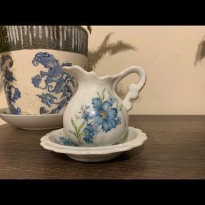 Vintage Miniature Pitcher and Saucer